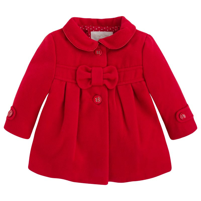 Mayoral baby girl red coat