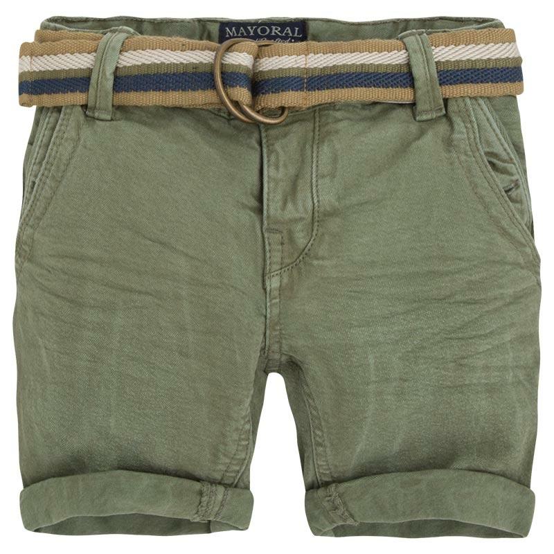 Mayoral boys khaki shorts with belt